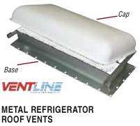 Rv Refrigerator Roof Vent 5 Quot X 24 Quot Base