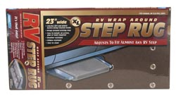 RV Wrap-Around Rv Step Rug Brown 18 inchW