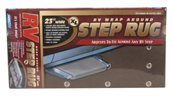 XL Wrap-Around RV Step Rug Brown