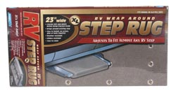 XL Wrap-Around RV Step Rug Gray