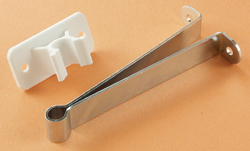 Metal RV Entry Door Holder w\ Plastic Clip 4 inch