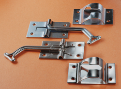 RV Entry Door Holder 45 Degrees Zinc