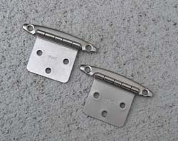 Brushed Nickel Flush Mount RV Hinges