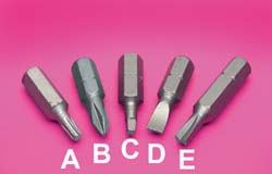 Insert Bit w\Hex Shank #2 Sq. Head (C)