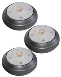 LED Puck Lights, 3/pk.