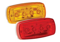 RV Clearance Light LED #58 Red w/ Pigtail