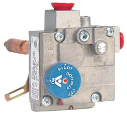 Atwood 91602 Robertshaw Thermostat with a Three Eight Inch NPT inlet and with a Three Eight NPT Outlet Water Heater