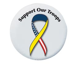 Support Our Troops Spare Tire Cover, Size A