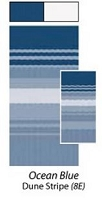 Carefree RV Awning Vinyl Canopy Replacement 18ft Ocean Blue Dune Stripe