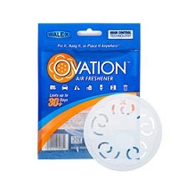 Walex Air Freshener Ovation, White Disc, Fresh, Hangable