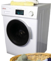 Pinnacle Super Combo White Washer-Dryer with Silver Trim