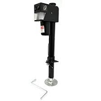 Ram 3500 Electric A-Frame Drop Leg Jack, Black