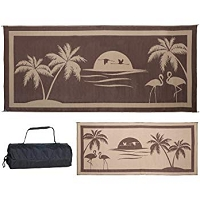 Camping Mat Tropical Oasis Pattern