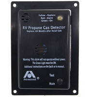 Atwood 31014 RV Propane Gas Detector - 12 Volt - Black