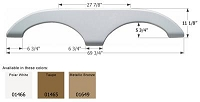 Icon 69-3/4 Inch Length x 11-1/8 Inch Height Fender Skirt