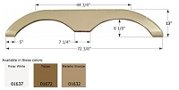 Icon Metallic Bronze Polar 72-3/8 Inch Length x 13 Inch Height Fender Skirt