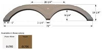 Icon Taupe 72 Inch Length x 14-1/4 Inch Height Fender Skirt