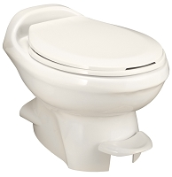 Thetford Aqua-Magic V Foot Flush Low Profile Without Water Saver RV Toilet Parchment