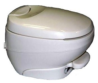 Thetford Aqua-Magic Bravura Low Profile Without Water Saver RV Toilet White