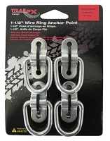 TFX Tie Down Anchor, Bolt-On/ Weld-On Mount, 1-1/2 Inch, Ring Pack of 4