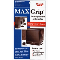 MAX Grip Big Screen TV Fasteners Black