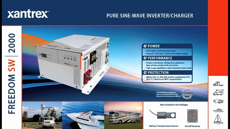 Freedom Sw Sine Wave Rv Inverter 2000 Watt