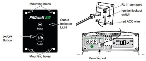 Xantrex Prowatt Sw Rv Inverter Remote