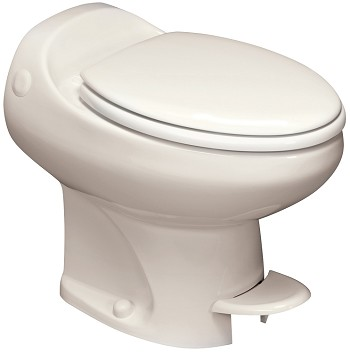 Thetford Aria Classic High Profile Without Water Saver RV Toilet Bone