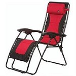 Faulkner Laguna Recliner Chair Padded Red/Black XL