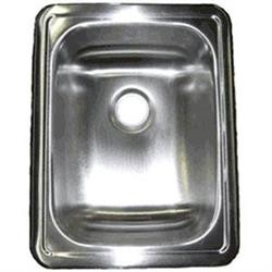 "LaSalle Bristol Single Bowl 14""L x 12-1/2""W Self-Rimming Stainless Steel"