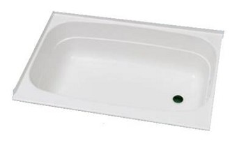 "Specialty Recreation Bathtub 24"" x 46"" Right Hand Drain White"
