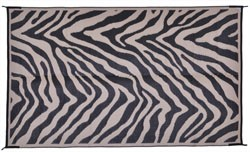 Zebra Black Patio Mat 8X11