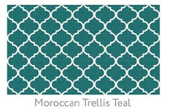 Ruggable  Moroccan Trellis Teal 3 Foot x 5 Foot