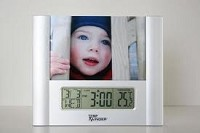 LCD Clock Thermometer & Photo