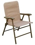Elite Folding Chair, Tan