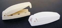 Baggage Door Catches, Colonial White