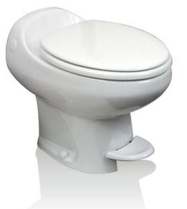 Thetford Aria Classic High Profile Foot Flush Without Water Saver RV Toilet White