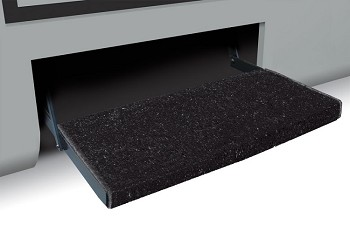 "Camper Step Rug, Jumbo Wraparound Plus, Black, 23"" W"
