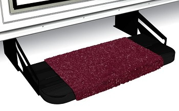 Camper Step Rug, Wraparound, Burgundy Wine, 18""