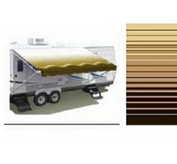 Sierra Brown 18' Carefree Awning Replacement Fabric