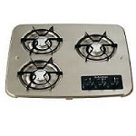 Suburban Drop-In Cooktop 3-Burner Black 2938ABK