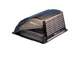 "MaxxAir RV Roof Vent Cover, 14""x14"", Smoke"