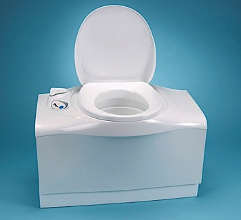 Thetford C402C White Cassette Marine/RV Toilet With Left Hand Electric Flush
