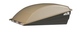 Camco 40731 Aero-Flo RV Roof Vent Cover (Champagne)