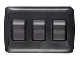 Contoured Wall Switch, on/Off, 3 Switches