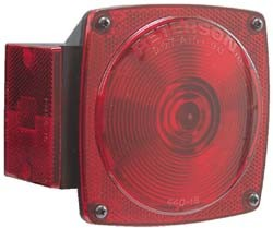 "Under 80"" Combination Rear Lights Red With License Bracket"