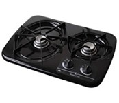 Atwood DV20-B 56493 Black 2 Burner Drop-In Cooktop