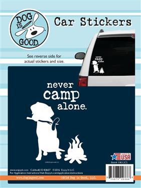 Decal 19013CS Never Camp Alone