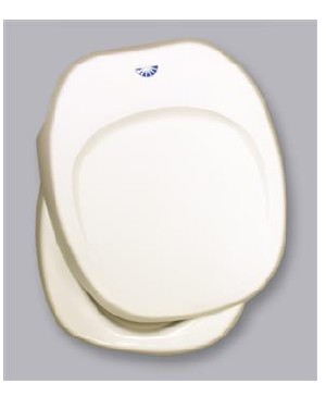 Aqua Magic IV RV Toilet Seat Lid/Cover Parchment- Thetford