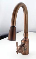 American Brass Oil Rub Bronze Pulldown Kitchen Faucet